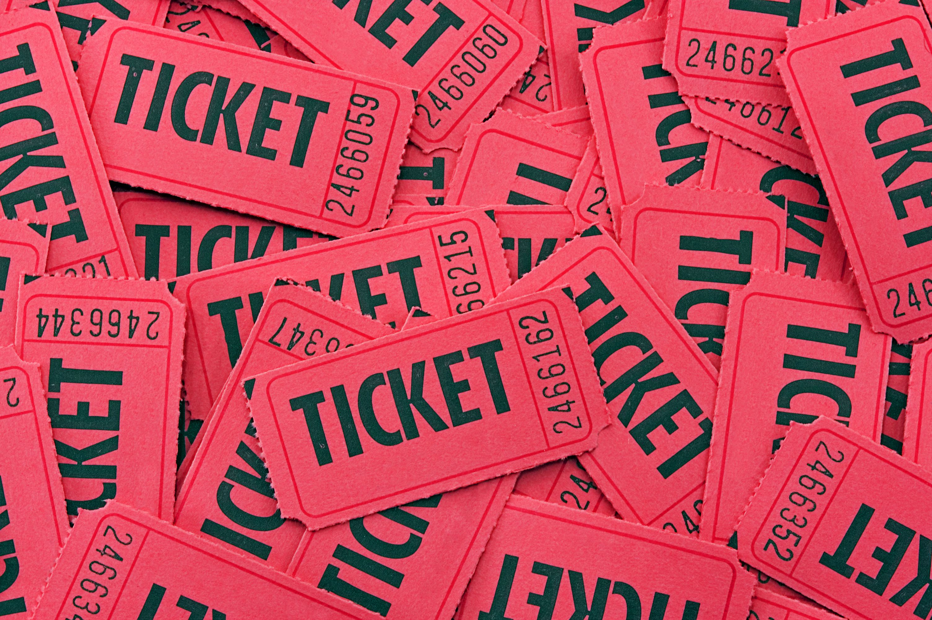 how to number raffle tickets