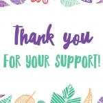 Thank you for your support