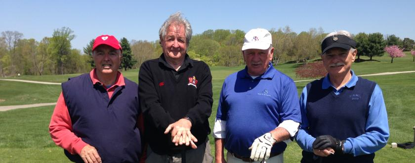 Peter Heaton, George Betzler, Al Little and Mike Novack, 2013 FfF Golf